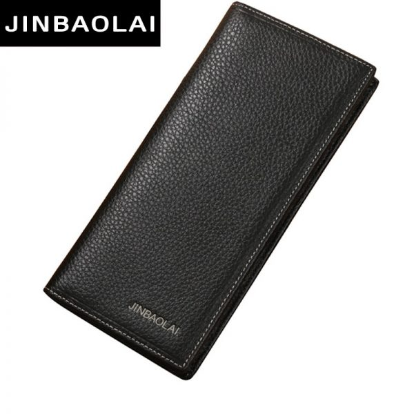 4b464a65624a New Men Wallet Genuine Leather Long Clutch Wallets For Men Bifold Leather  Wallet Men Slim Purse Fashion Male Coin Pocket Wallets
