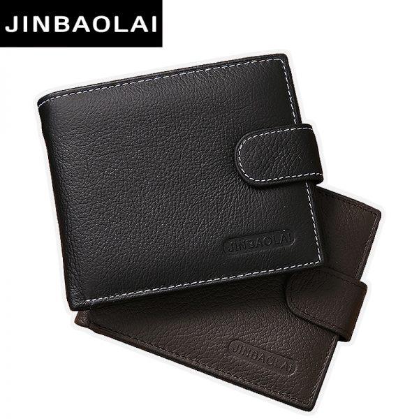 e3d4ed3be01 JINBAOLAI Genuine Leather Men Wallets Purse Money Bag Fashion Male ...