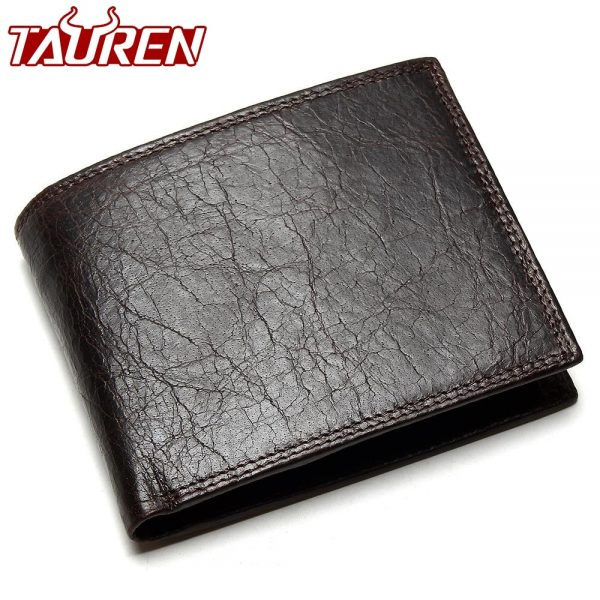 b213e9f371 TAUREN 2018 New Men Wallet 100% Genuine Leather Crazy Horse Zippper Coin  Pocket Top Grain Cow Leather Wallet Men