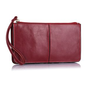 genuine leather clutch for women