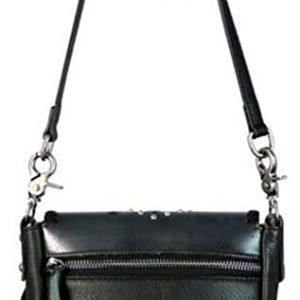 Montana West Genuine Leather Crossbody Handbag Purse Light Bundle (Coffee Flap w Tussle)