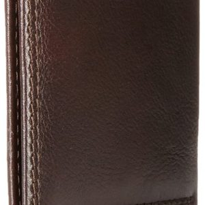 Tommy Hilfiger Men's Leather Wallet – Slim Bifold With 6 Credit Card Pockets and Removable Id Window, Chocolate, One Size