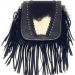 Western-Genuine-Tooled-Leather-Cowhide-Fur-Fringe-Womens-Crossbody-Bag-in-3-Colors