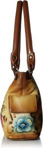 Anna by Anuschka Women's Genuine Leather Small Shoulder Bag | Hand Painted Original Artwork