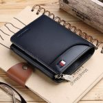 WILLIAMPOLO-Men-Wallets-Trifold-Genuine-Zipper-Wallets-with-Coin-Pocket