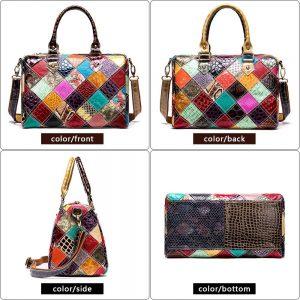 Women's Genuine Leather Handbags Ladies' Tote Shoulder Bags Large Capacity Crossbody Bag Satchel Designer Purse