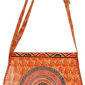 Zint Mandala Design Women's Genuine Leather Shantiniketan Crossbody Handbag