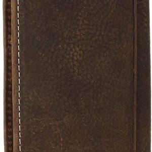 Ariat Men's Dark Distressed Trim Shield Rodeo Western Wallet