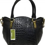 orYANY-Woman's-Leather-Croco-Satchel,-Black
