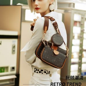 Women 3-in-1Bags Handbags crossbody bag PU leather fashion Wild Crossbody Bag Casual Brand Casual