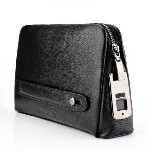Bags for men Leather Hand Bag Male Long Money Wallets Mobile Phone Pouch Men Messenger Bag Anti-Theft Men's Fingerprint Purses