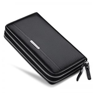WilliamPolo Luxury Brand Leather Wallets men Long Zipper Coin Purses Tassel Design Clutch Wallets Female Money Bag Credit Card