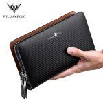Williampolo-men's-wallet-business-large-capacity-clutch-bag-Genuine-leather-clutch-bag-double-zipper-handbag-long-men's-wallet