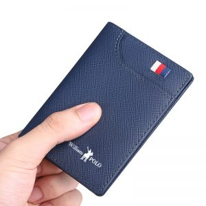 Williampolo Genuine Leather Men's Wallets Thin Male Wallet Card Holder Cowskin Soft Mini Purses New Design Men Short Slim Wallet