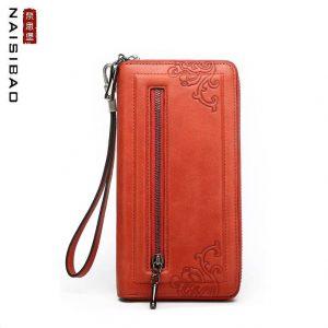 2019 New luxury women bags fashion Superior cowhide women wallets genuine leather clutch bag women leather wallets