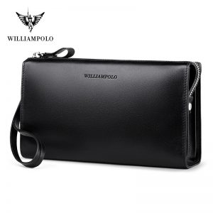 WilliamPolo Luxury Brand Film shift leather Wallets men Zipper Purses Tassel Design Clutch Wallets Female Money Bag Credit Card