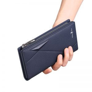 WILLIAMPOLO Wallet For Men Leather Luxury Brand Men Wallets Long Zipper Clutch Business Designer Card Holder Wallet PL191482