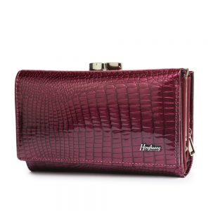 HH Luxury Women Genuine Leather Alligator Short Wallet Female Zipper Hasp Large Capacity Crocodile Calf Leather Small Purse