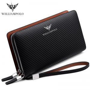 Business Brand Blue Fashion Zipper Long Wallet Phone Credit Card Holders Handbag pl170