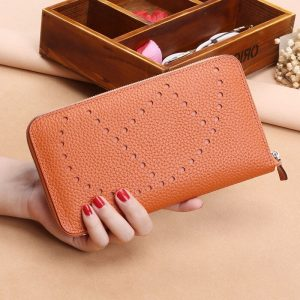 2020 Litchi Pattern Womens Wallets and Purses 100%Genuine Leather Long Ladies Wallet Money Bags Coin Card Holder New Clutch Bags