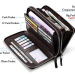 WILLIAMPOLO–Purse-Long—Luxury-Business-Solid-Double-Zipper–Long-Clutch-Bag–Wallet