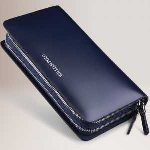 WilliamPOLO New Men Wallet Long Clutch Genuine Leather Credit Card Holder Multi Card Case Coin Phone Purse Double Zipper Handbag