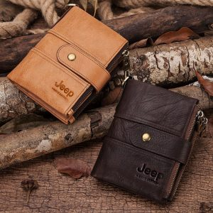 2020 100% Genuine Leather Rfid Wallet Men Crazy Horse Wallets Coin Purse Short Male Money Bag Mini Walet High Quality Boys