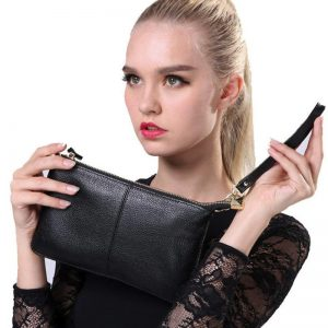 100% Genuine Leather Women Messenger Bag Famous Brand Female Shoulder Bag Envelope Clutch Bag Crossbody Bag Purse for Women 2019