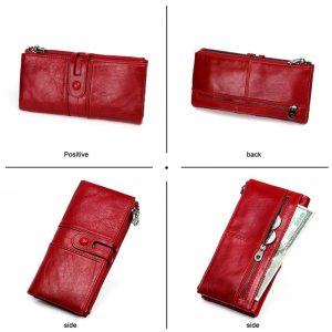 Women Purses Long Zipper Genuine Leather Ladies Clutch Bags With Cellphone Holder High Quality Card Holder Wallet New