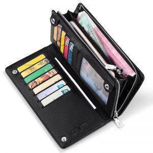 WILLIAMPOLO Genuine Leather Luxury Brand Men Wallets Long Men Purse Wallet Male Clutch Business Organnizer Wallet Coin PL219