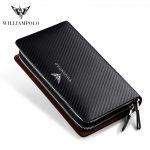 WILLIAMPOLO–Luxury-Business-Solid-Double-Zipper-Handbag–Long-men–bag–long-Wallet