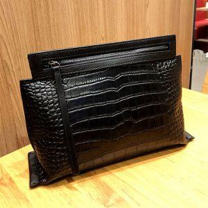 XMESSUN 2020 New Crocodile Pattern Genuine Leather Clutch Designer Women Fashion Envelope Pouch Shoulder Messenger Bag Ins F372